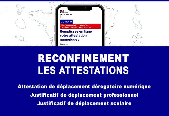 RECONFINEMENT – Les attestations de déplacement